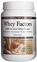 Whey Factors Drink Mix Chocolate - 12 Oz. - Natural Factors