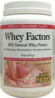 Whey Factors Drink Mix Strawberry -12 Oz. - Natural Factors