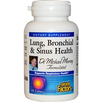 Lung, Bronchial & Sinus Health - 45 Tabs - Natural Factors