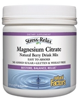Stress-Relax Magnesium Citrate Powder -  8.8  Oz - Natural Factors