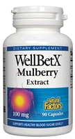 WellBetX Mulberry Extract 100mg - 90 Caps - Natural Factors