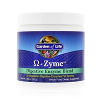 Omega-Zyme - Digestive Enzyme Blend Powder - 2.86 oz (81g) - Garden of Life: 658010111324