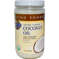 Organic Extra Virgin Coconut Oil - 32oz - Garden of Life