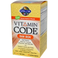 Vitamin Code RAW Iron - 30 vegan capsules - Garden of Life