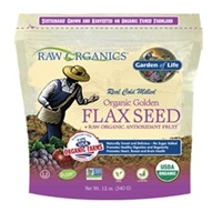 RAW Organics - Organic Flax Meal + local harvest fruits & berries 12 oz - Garden of Life
