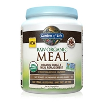 RAW Organic Meal Shake & Meal Replacement Powder Chocolate Cacao - 17.4 oz (493g) - Garden of Life