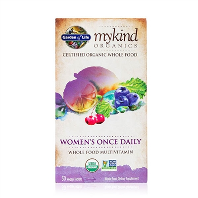 mykind Organics Women's Once Daily Multivitamin - 30 Vegan Tablets - Garden of Life - 658010117753