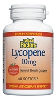 Lycopene 10mg - 60 softgels - Natural Factors