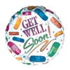 Get Well Bandaid Balloon