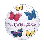 Get Well Butterfly Balloon