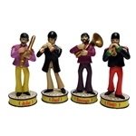 The Beatles - Band Member Shakems Set of 4 Deluxe Premium Motion Statues