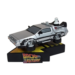 Back to the Future Part II - Delorean Time Machine Premium Motion Statue