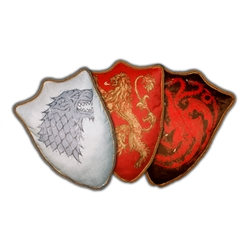 Game Of Thrones - House Sigil Throw Pillow Wave 1 -  Set Of Three