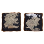 Game Of Thrones - Westeros Map Throw Pillows - Set Of Two