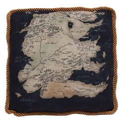 Game Of Thrones - Westeros Map Throw Pillow - South