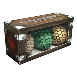 Game Of Thrones - Dragon Egg Plush Clip On Box Set 2014 Convention Exclusive
