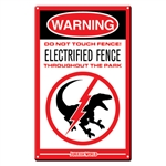 Jurassic World - Raptor Fence Medium Metal Sign