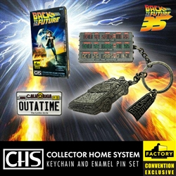 Back To The Future - CHS Keychain And Pin Set 2020 Consolation-Con SDCC Exclusive