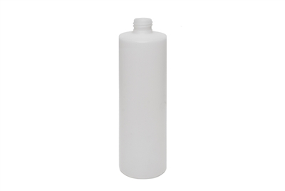 16 oz CYLINDER 34 GR Cylinder Round Cosmetic HDPE 24-410<span class='noshowcode'> s16oz </span>
