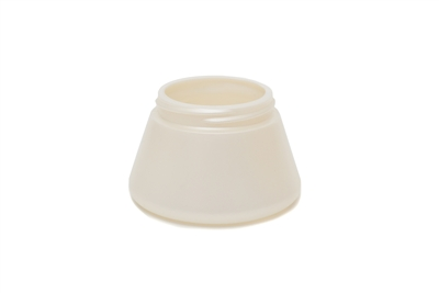 4 oz PYRAMID JAR. 20 GR Wide Mouth Cosmetic HDPE 55 MM<span class='noshowcode'> s4oz </span>