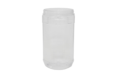 44 oz JAR CLEAR W/O HANDLE 52 GR Wide Mouth Cosmetic PVC 95-400<span class='noshowcode'> s44oz </span>