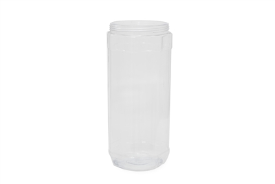 54 oz JAR OCTANGULAR CLEAR 65 GR Wide Mouth Cosmetic PVC 95-400<span class='noshowcode'> s54oz </span>
