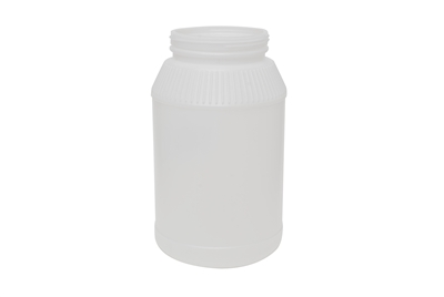 1 gal WIDE MOUTH JAR  WITH RIDGES, 115 GR Wide Mouth Edible HDPE 110-400<span class='noshowcode'> s1gal </span>