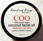 Dancing Dingo Coconut Facial Oil - Clarifying for Oily/Blemish Prone Skin