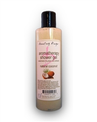 Natural paraben free moisturizing and soothing shower gel with aloe and pure essential oils