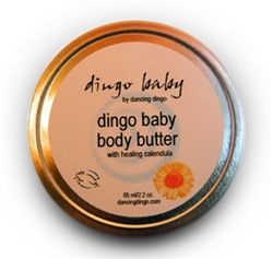 Dingo Baby Bottom butter to help heal diaper rash and redness and irritation with Calendula and Almond oil also gluten free