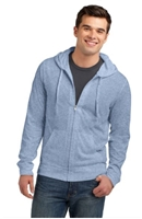 District Young Mens Lightweight Jersey Fill-Zip Hoodie