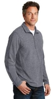 Port Authority - Heathered Microfleece 1/2 Zip - Mens