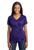 Sport Tek Camohex V-neck Tee - Ladies