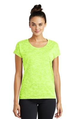 Sport Tek PosiCharge Electric Heather Sporty Tee-Ladies