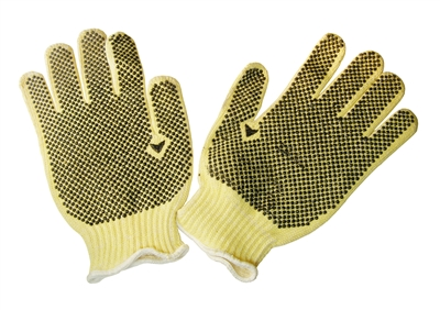 KEVLAR GLOVES W/PVC DOTS (per 6)