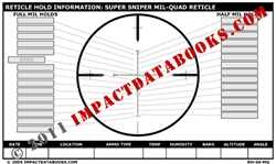 Super Sniper Mil-Quad Reticle (Laminated)