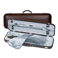 Jaeger Prestige Oblong Violin Case - Burgundy Leather