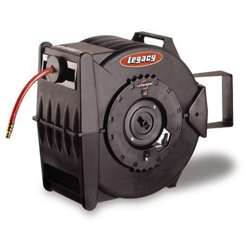 """Legacy Retractable Air Hose Reel with 3/8"""" x 100 ft. hose"""
