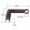 Crank handle for Hose reel Models LGP-704 and LGP-805