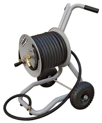 Roughneck Two Wheel Garden Hose Cart Holds 150 ft of Hose