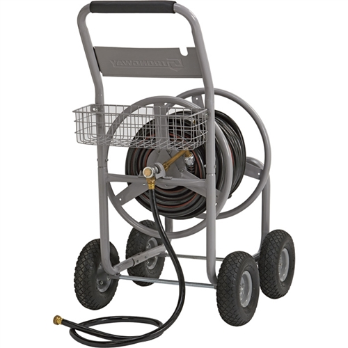 Strongway 4 wheel hose reel wagon for Strongway garden hose reel cart