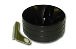 High Flow filter cup with choke hold