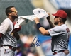 11x14 autographed & authenticated photo, St Louis Cardinals Jose Martinez & Yadi Molina