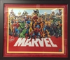 16x20 autographed Stan Lee Marvel print, matted and framed