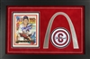 11x19 Stan Musial autograph card, Arch cutout, Musial #6 patch & COA