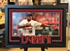 "Carlos Martinez autographed  10x20"" print double matted in suede and framed with black moulding"