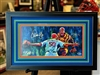 Molina/Wainwright autograph 3D print by Steven Walden, triple mat and framed