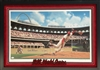 "Bill Purdom framed 22x29"" print of St Louis Cardinals Bob Gibson, autographed by both"