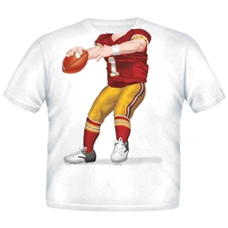 Football QB Red Gold 1975