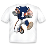Football Blue/Orange/White 459